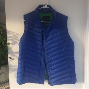 Blue Nylon Vest with Green Lining
